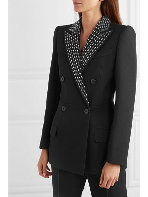 Givenchy double-breasted crystal-embellished wool and silk-blend twill blazer