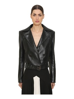 Givenchy Double breasted leather biker jacket