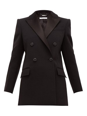 Givenchy double breasted satin lapel wool blend jacket