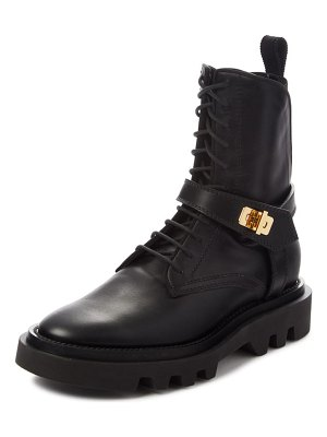 Givenchy eden lock combat boot
