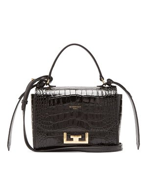 Givenchy eden mini crocodile-embossed cross-body bag