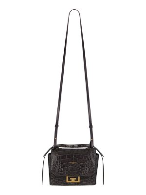 Givenchy Eden Mini Crocodile-Embossed Crossbody Bag
