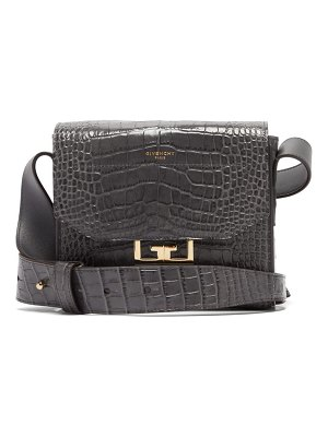 Givenchy eden small crocodile effect leather shoulder bag