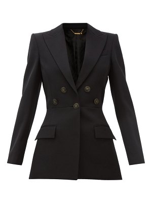 Givenchy flared flocked-button wool-crépe suit jacket