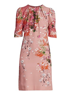 Givenchy floral balloon-sleeve dress