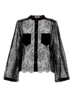 Givenchy floral-embroidered lace blouse
