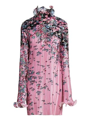 Givenchy floral pleated wave dress