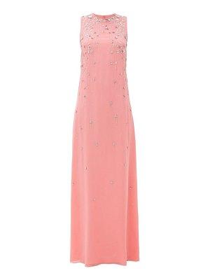 Givenchy floral-sequinned embroidered silk-crepe gown