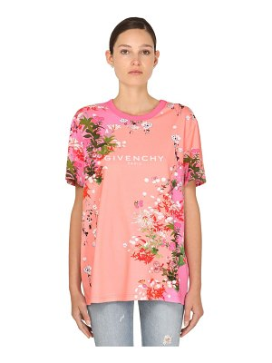 Givenchy Flower printed cotton jersey t-shirt
