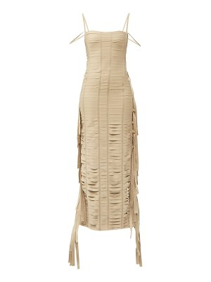 Givenchy fringed banded ribbon gown