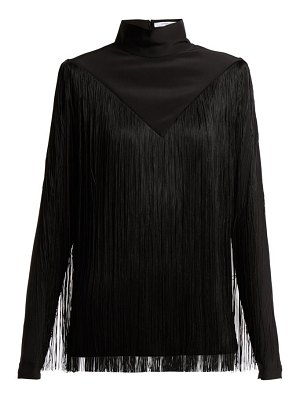 Givenchy Fringed silk-georgette top