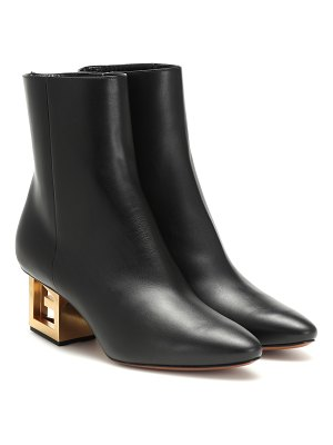 Givenchy g leather ankle boots
