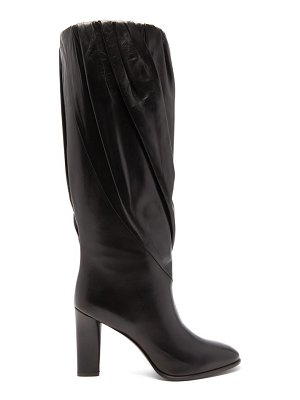 Givenchy gathered knee high leather boots