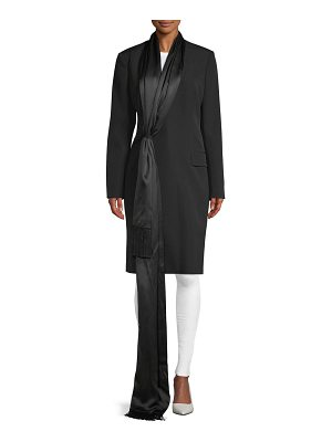 Givenchy GDP Coat with Fringe-Scarf