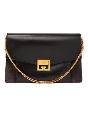 Givenchy GV3 large suede and leather shoulder bag