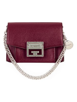 Givenchy GV3 Mini Goatskin Leather Satchel Bag