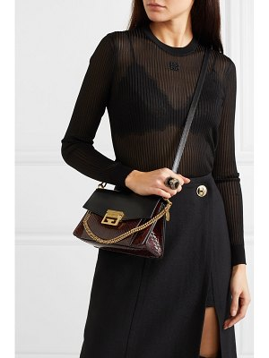 Givenchy gv3 small leather and python shoulder bag