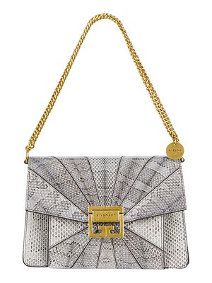 Givenchy GV3 Small Patchwork Snakeskin Shoulder Bag