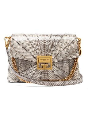 Givenchy gv3 small snakeskin cross body bag