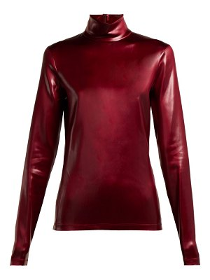 Givenchy High-neck coated-satin top