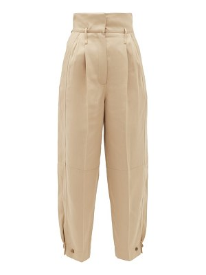 Givenchy high-rise canvas tapered trousers