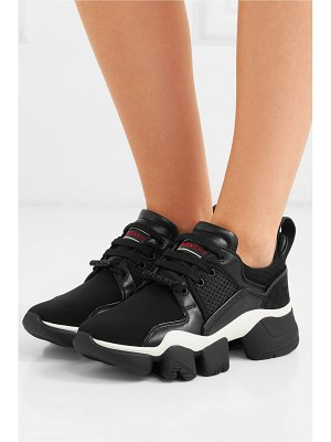 Givenchy jaw mesh and suede-trimmed leather, neoprene and rubber sneakers
