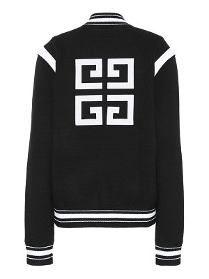Givenchy Knitted wool varsity cardigan