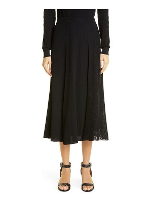 Givenchy lace panel ribbed midi sweater skirt