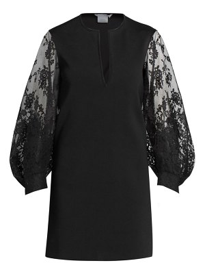 Givenchy lace puff-sleeve shift dress