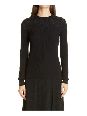 Givenchy lace shoulder ribbed sweater