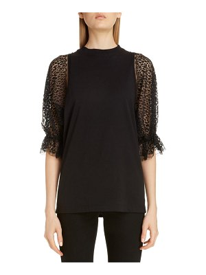 Givenchy lace sleeve jersey tee