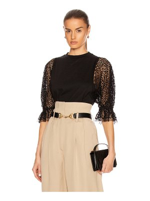 Givenchy lace sleeves top