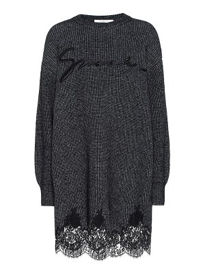Givenchy lace-trimmed cotton-blend knit dress