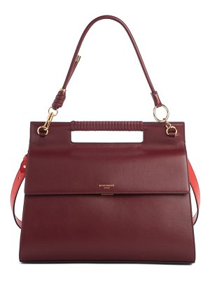 Givenchy large whip leather top handle bag