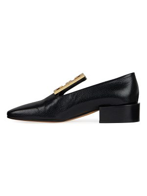 Givenchy Leather High-Vamp Loafer with 4G Logo