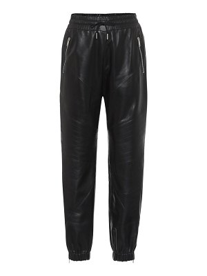 Givenchy leather trackpants