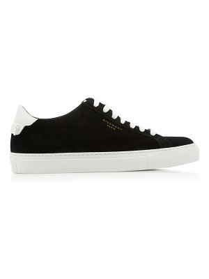 Givenchy leather-trimmed suede sneakers