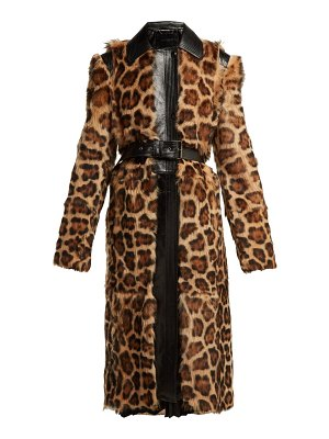 Givenchy leopard-print shearling coat