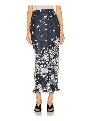 Givenchy long pleated wave details skirt