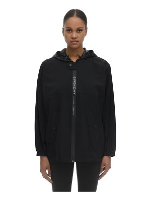 Givenchy Matt branded nylon sideband windbreaker