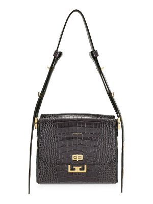 Givenchy medium eden crocodile-embossed leather shoulder bag