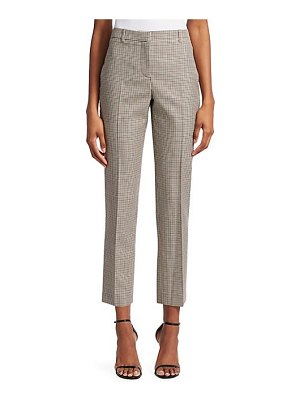 Givenchy micro check tailored wool trousers