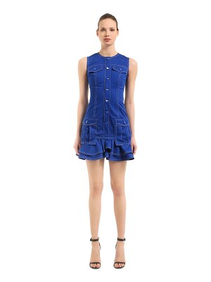 Givenchy Military light cotton denim dress
