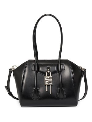Givenchy mini antigona lock leather satchel