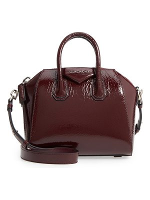 Givenchy mini antigona patent leather satchel