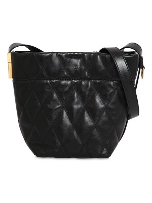 Givenchy Mini gv quilted leather bucket bag
