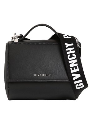 Givenchy Mini pandora box logo strap leather bag