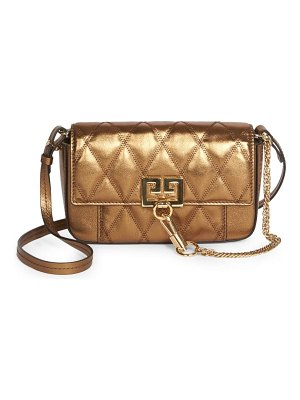 Givenchy mini pocket convertible quilted metallic leather belt bag