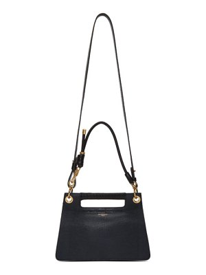Givenchy navy lizard small whip bag
