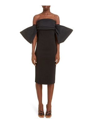 Givenchy off the shoulder bow sleeve cocktail dress